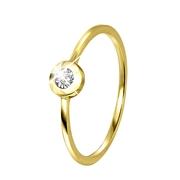 14 Karaat geelgouden ring met diamant (1042048)