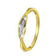 14 Karaat geelgouden ring  met diamant (1043130)