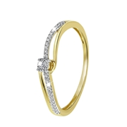 14 Karaat geelgouden ring met diamant (1043131)