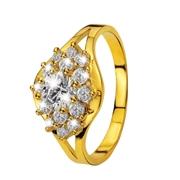 Gelbgoldener Ring mit Zirkonia (1005991)