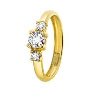 Gelbgoldener Ring mit Zirkonia (1028574)