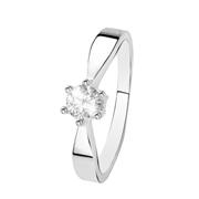 Witgouden  solitair ring met diamant (0,50ct.) (1037205)