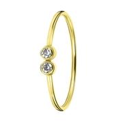 Ring, 585 Gelbgold, 2 Zirkonia (1056487)