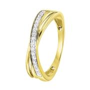 14 Karaat geelgouden ring met diamant (1043121)