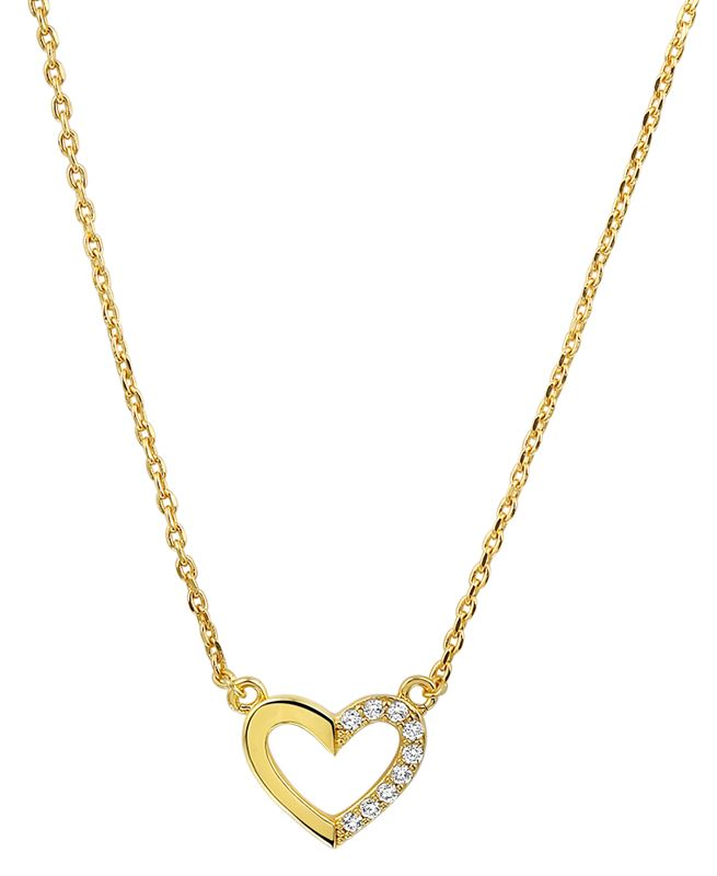 Eve goldplated ketting hart met zirkonia__1020976__0