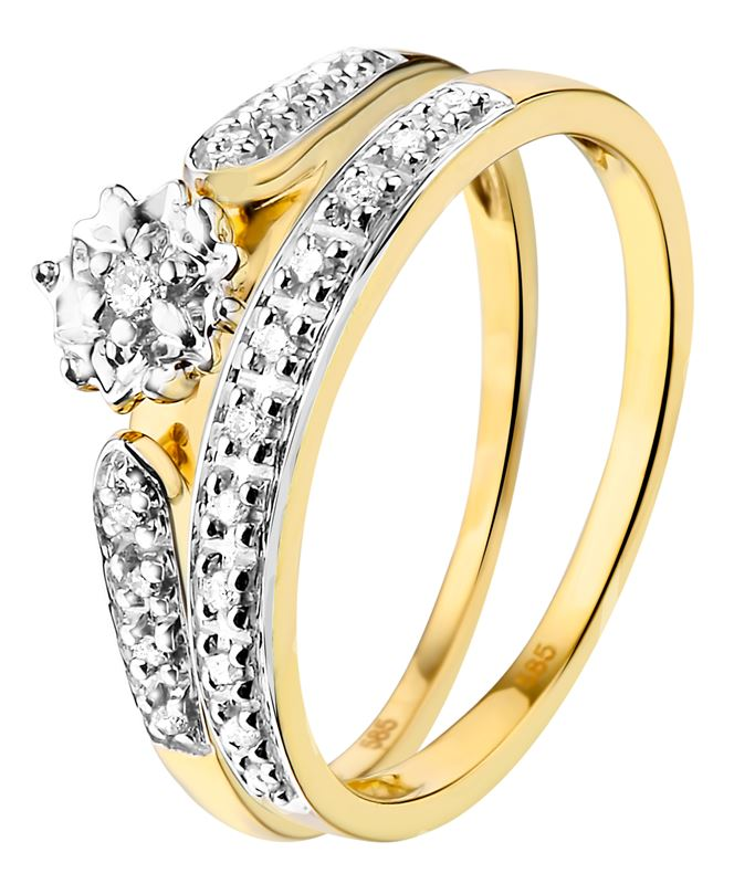 Gelbgoldener Doppelring mit Diamanten__1001820__0