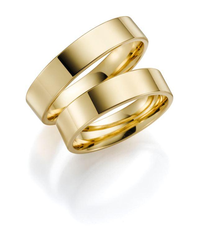 14 Karaat geelgouden trouwring Bluebell Heren H81__1012312__0