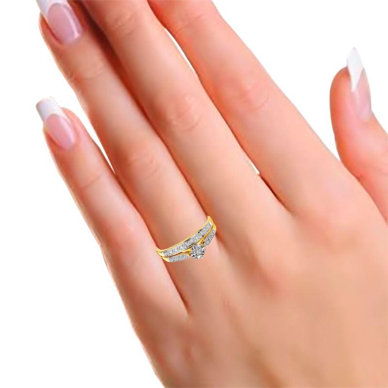 Gelbgoldener Doppelring mit Diamanten__1001820__1