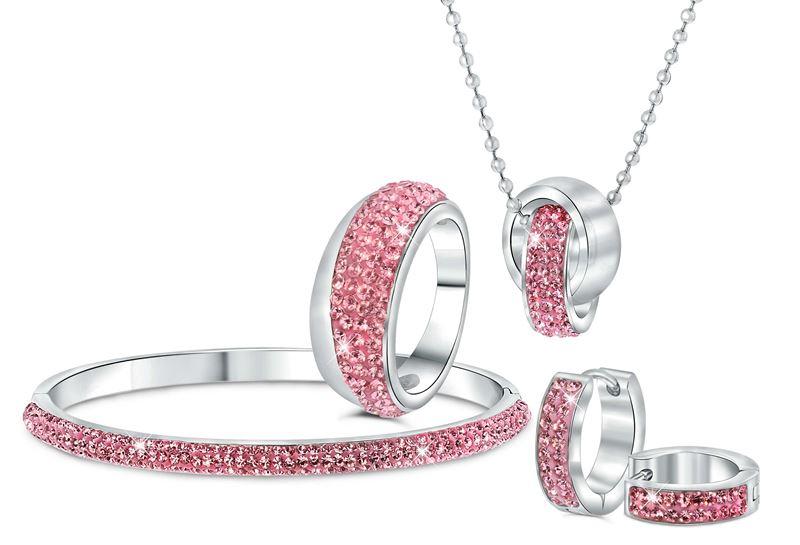 Stalen armband licht roze kristal__1034048__1