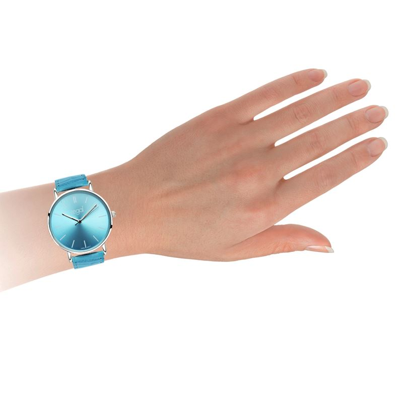 Regal Slimline horloge blauwe leren band R16280-32__1020855__1
