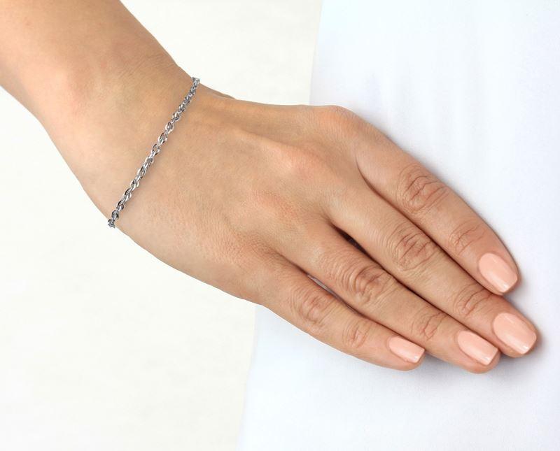 9 Karaat armband diamond cut wit__1047184__1