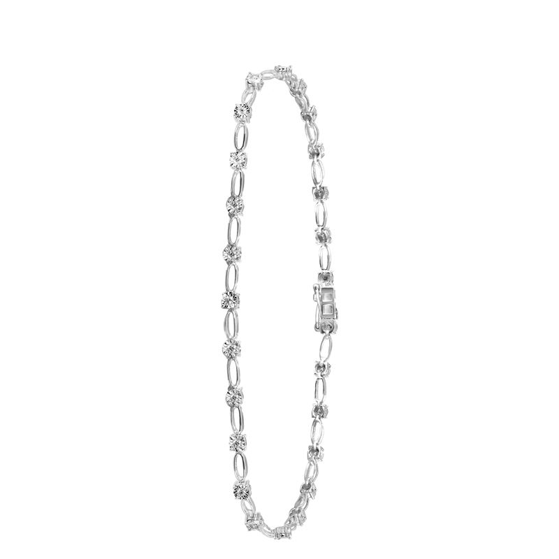 14 Karaat witgouden armband met diamant 0,25ct__1047960__0