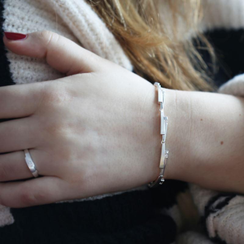 Zilveren armband mat/glans zirkonia__1027029__1