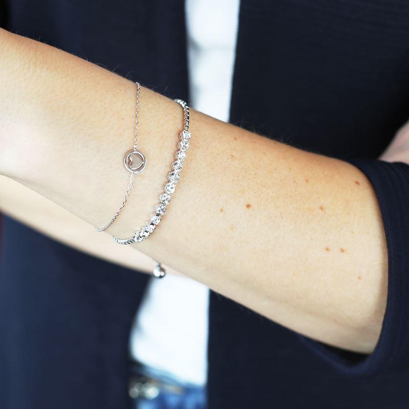 Zilveren armband Swarovski Crystal white__1048929__1