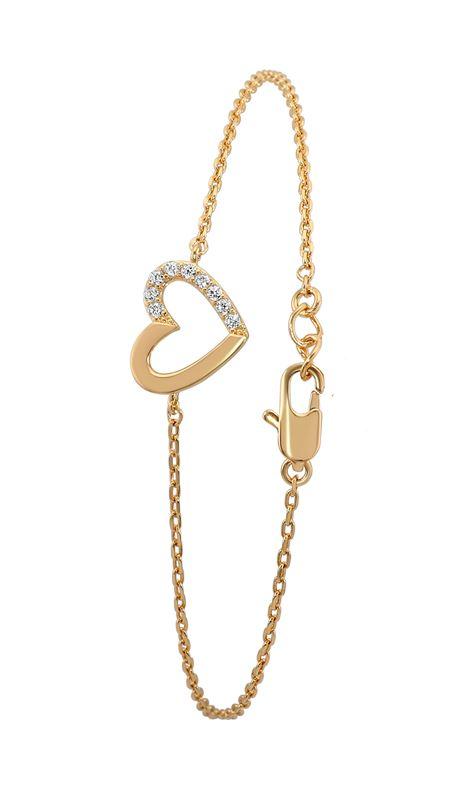 Eve goldplated armband hart met zirkonia__1020977__0
