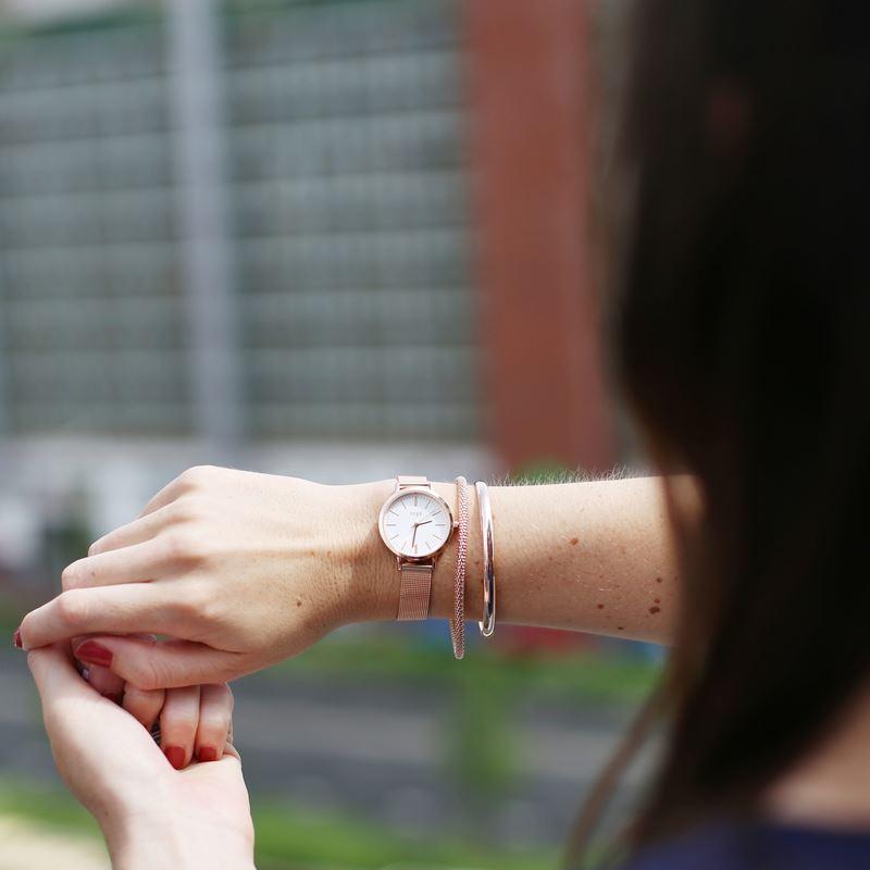 Zilveren armband bangle roseplated__1041386__1