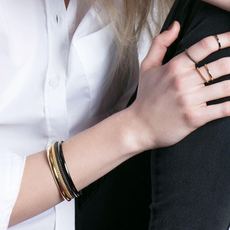 Zilveren armband popcorn blackplated 3mm__1041391__1