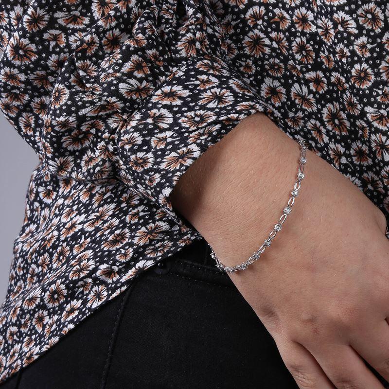 14 Karaat witgouden armband met diamant 0,25ct__1047960__1